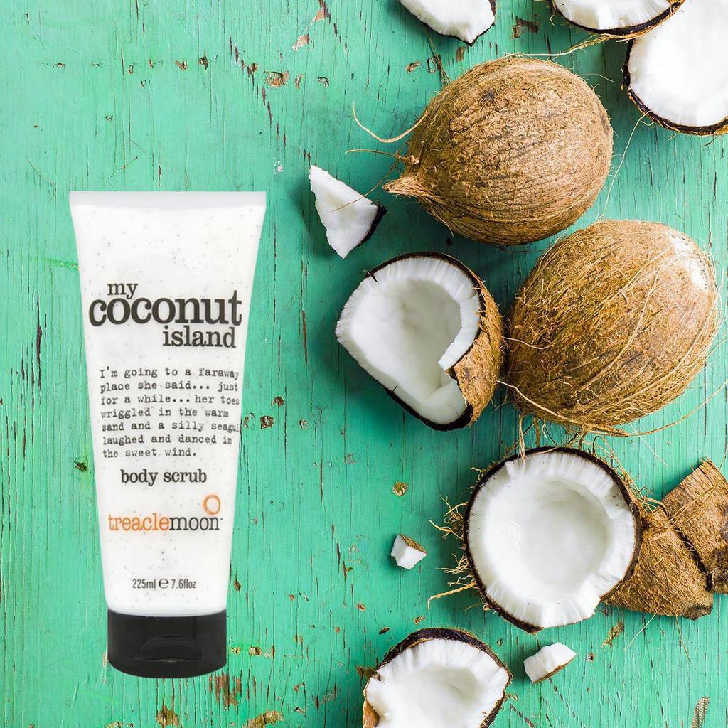 Tẩy da chết toàn thân tinh dầu dừa Treaclemoon 225ml - My Coconut Island  Body Scrub | Shopee Việt Nam