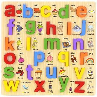 Bảng Học Chữ Song Ngữ Tiếng Anh In Thường Cho Bé, Đồ Chơi Ghép Chữ Bằng Gỗ Benrikids thumbnail