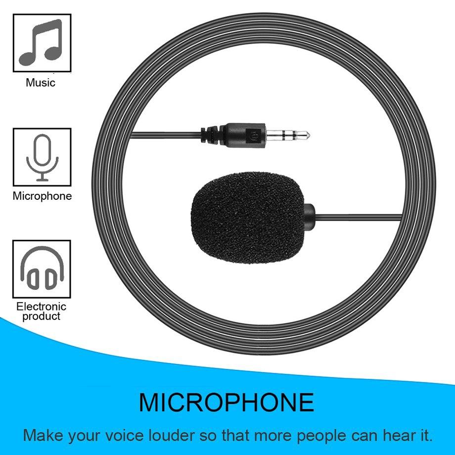 Portable Size External 3.5mm Clip-on Lapel Lavalier Microphone For PC Laptop