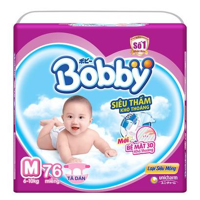 Tã dán Bobby Fresh siêu mỏng M76