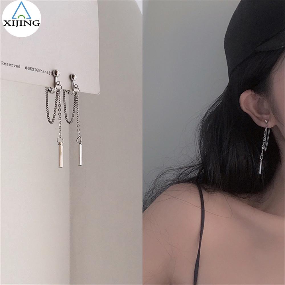 Bông tai hình tròn mạ vàng thời trang cho nữ