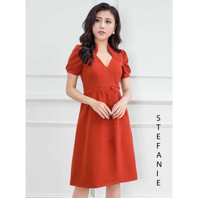 Đầm Xòe -Váy Xòe Đẹp Thiết Kế Dáng A Xòe Công Sở form chuẩn, tôn dáng STEFANIE