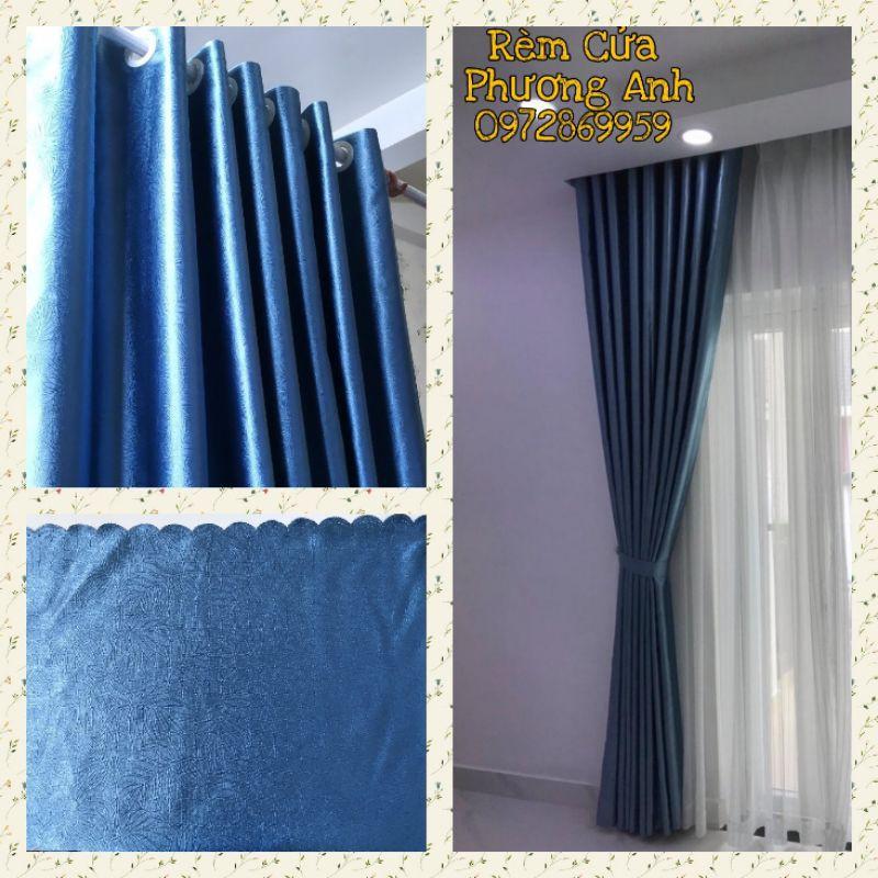 Rèm cửa sổ chống nắng 96%  FREE SHIP   Màu xanh dương dịu mát ( Bao đổi trong vòng 30 ngày ) Nhiều kích thước