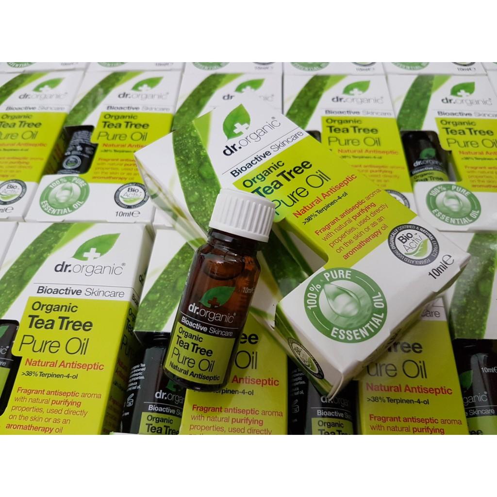 TINH DẦU TRÀM TRÀ Dr.Organic Organic Tea Tree Pure Oil 10ml