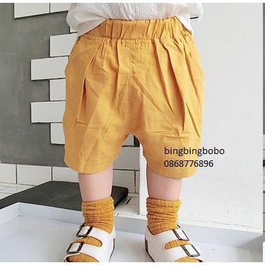 Quần ngố màu cam