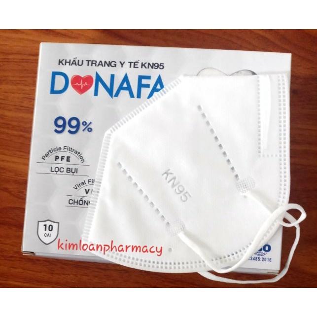 Khẩu trang kháng khuẩn 3D KN95 chính hãng  Donafa 5 lớp lọc