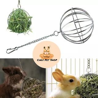 Banh đựng cỏ inox cho Thỏ, Bọ, Sóc Bắc Mỹ... thumbnail