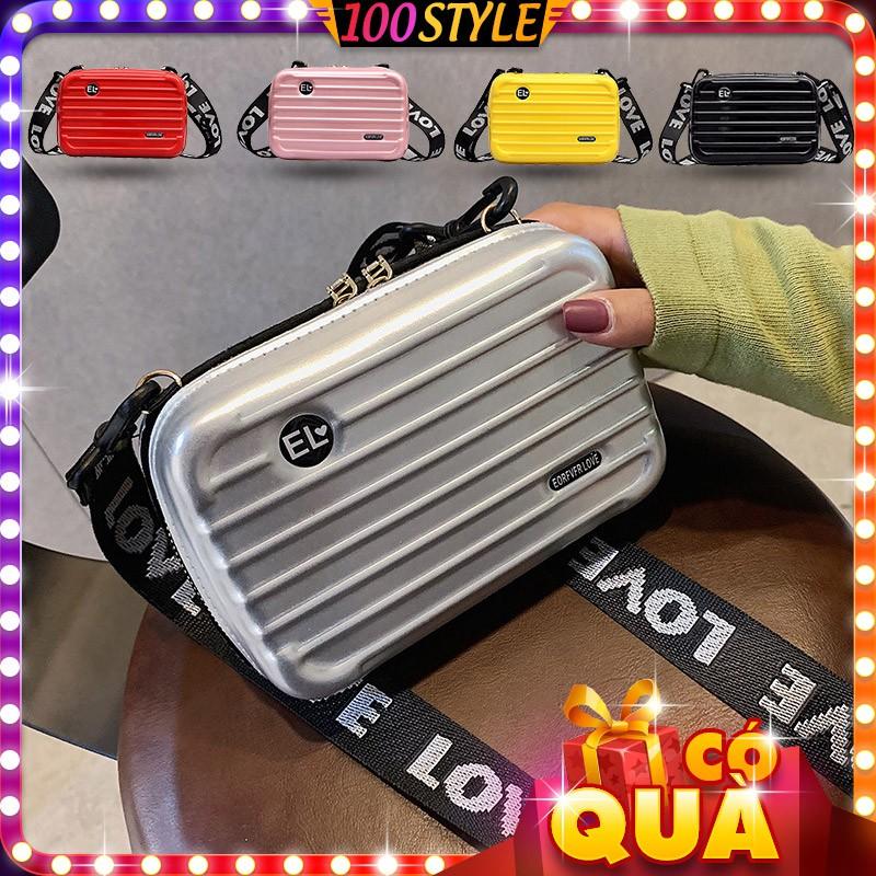 Túi Vali Mini Dây Đeo Chữ Chất Bằng Da Korea M763