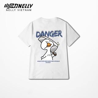 Áo thun tay lỡ NELLY cotton 4 chiều dáng unisex in hình danger duck thumbnail