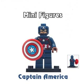 Mô hình mini figures lego siêu anh hùng Captain America
