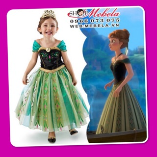 V225 Váy công chúa Anna Frozen cho bé gái 15-32kg, cao nhất 137cm sz 100-150