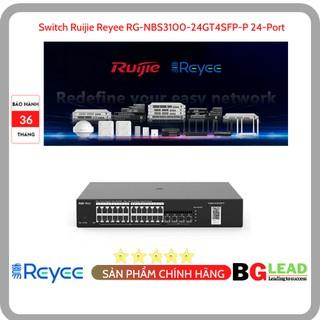 Thiết bị mạng Switch Ruijie Reyee RG-NBS3100-24GT4SFP-P 24-Port Gigabit L2 Managed POE Switch - Mai hoàng PP và bảo hành thumbnail