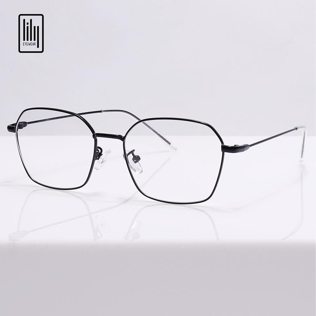 Gọng kính cận kim loại mắt đa giác Lilyeyewear 2808 nhiều màu