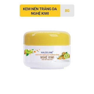 Kem nén dưỡng trắng Hazeline Nghệ - Kiwi 8g