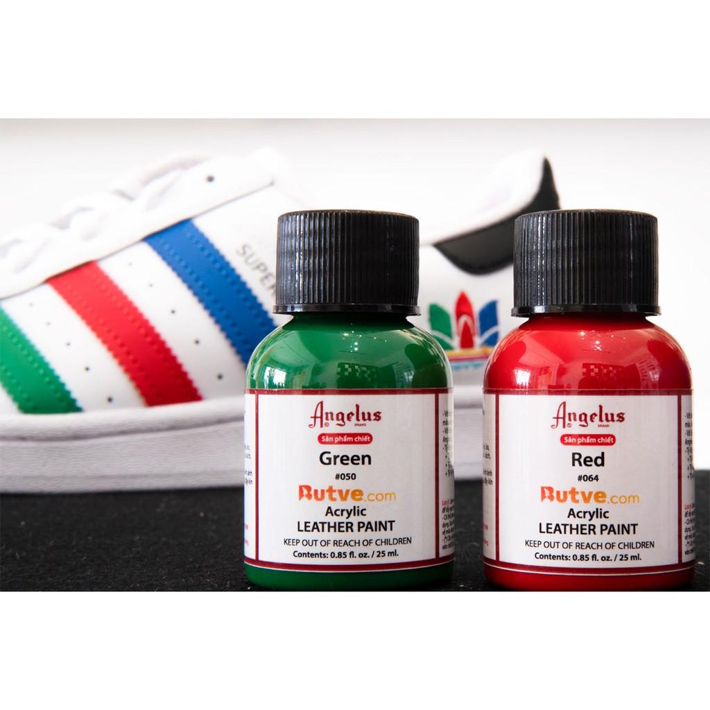 Màu acrylic vẽ da chuyên dụng Angelus Leather Paint - Combo 12 Màu (25ml)