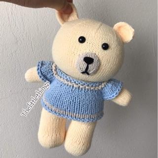 Gấu bông len handmade. Thú bông đồ chơi cho bé cao 24cm
