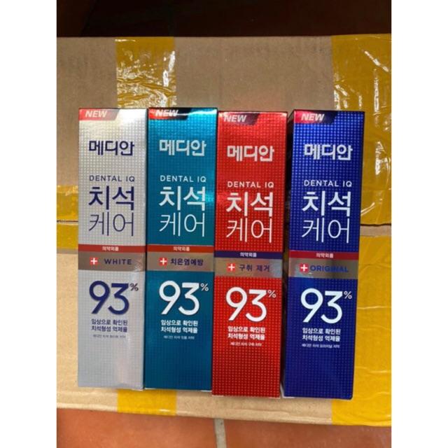 [Mã COSHOT03 giảm 10% đơn 350K] Kem đánh răng làm trắng răng 120g Median 93% Hàn Quốc nhiều màu
