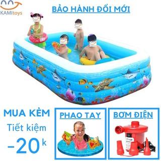 [Mã TOYFSS6 giảm 15K đơn bất kì] Bể bơi phao ❤️Đủ Cỡ❤️Đồ kèm(chọn Bơm Áo phao ) hồ bơi bơm hơi cho trẻ em bé