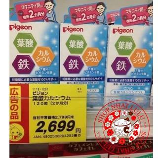 VIÊN UỐNG BẤU VITAMIN CANXI PIGEON NHẬT BẢN 60 VIÊN