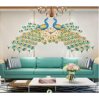 Đồng hồ tro tường chim công phú quý DHS404 chính hãng trang trí phòng khách sạn nhà hàng , quà tặng tân gia .