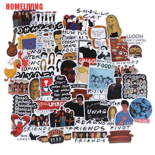 [HOMELIVING]50Pcs Friends stickers DIY scrapbooking album luggage laptop phone decal