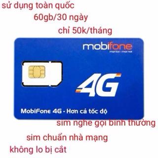 Sim Mobi 4G chỉ 50k có ngay 62gb max tốc độ