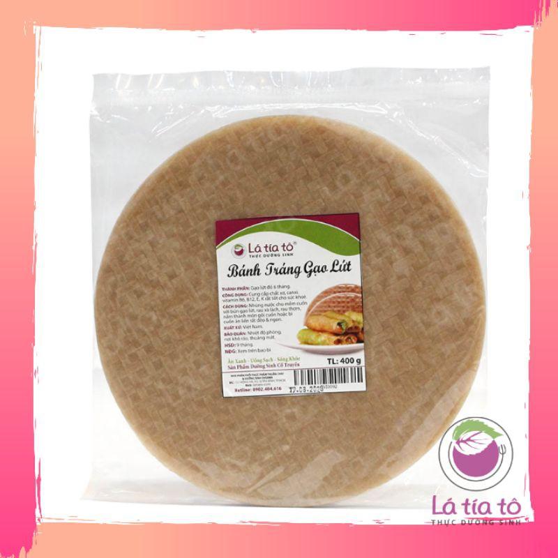 [Mã 267FMCGSALE giảm 8% đơn 500K] Bánh tráng gạo lứt 200gr - LÁ TÍA TÔ