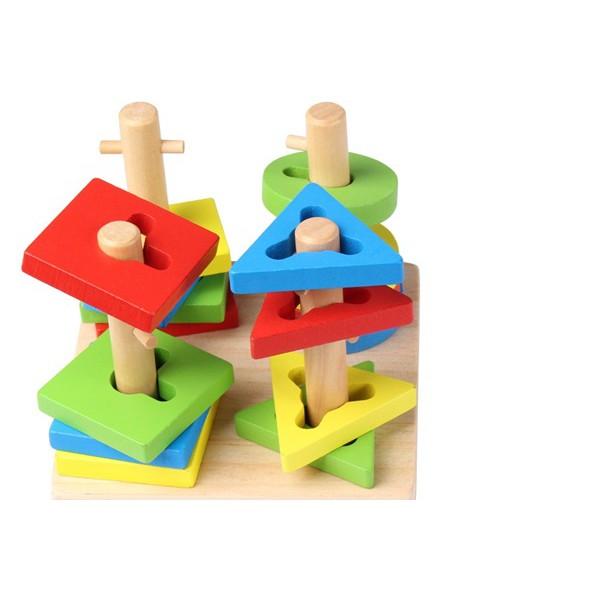 Bộ đồ chơi xếp hình 4 trụ cột bằng gỗ - 3099070 , 740636857 , 322_740636857 , 175000 , Bo-do-choi-xep-hinh-4-tru-cot-bang-go-322_740636857 , shopee.vn , Bộ đồ chơi xếp hình 4 trụ cột bằng gỗ