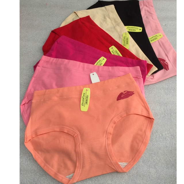Combo 10 quần cotton đôi môi bền đẹp