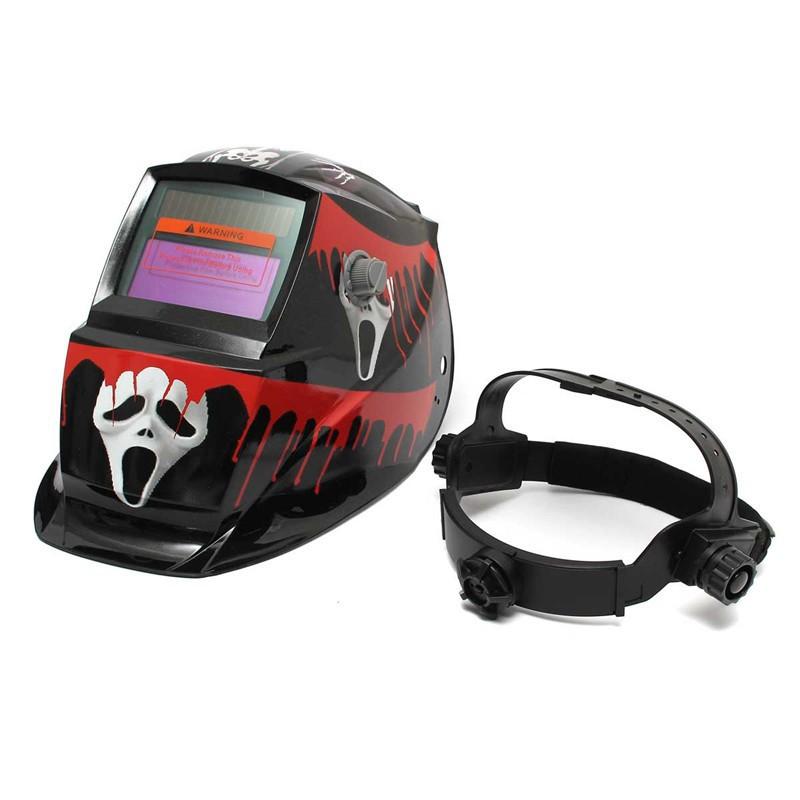 3010Ready Stock3011Bloody Ghost Solar Welder Mask Electrowelding Auto-Darkening Welding Helmet