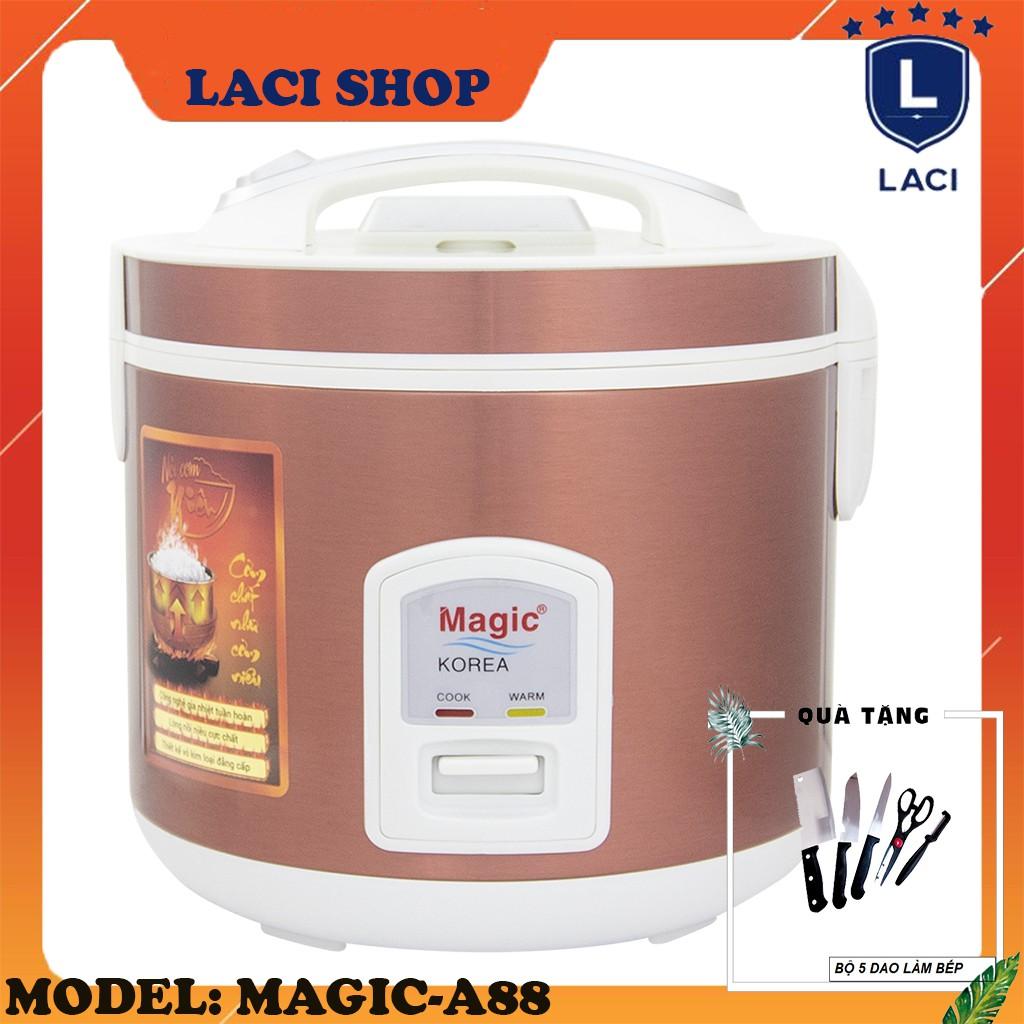 Nồi cơm điện lòng niêu Magic Korea A88 | Dung Tích 2L | Công Suất 650W | Tặng Bộ Dao Làm Bếp 5 Món
