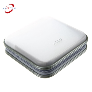 XIONGYE 40 Disc CD/VCD/DVD Storage Organizer Bag Album Box (White)