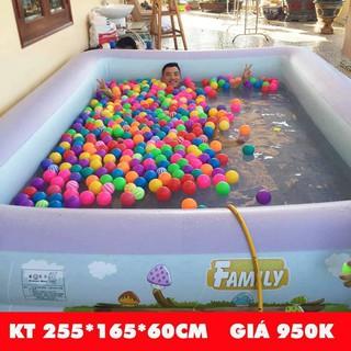 Bể bơi Yoyo 255*165*60CM 3 tầng tặng bơm điện 2 chiều