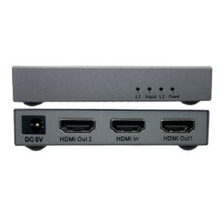 Bộ hub chia HDMI 1 ra 2 cổng 4K Dtech DT-7142A mini