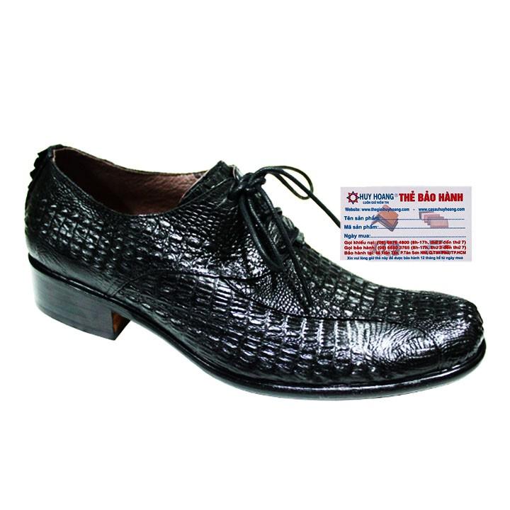 Giày nam da cá sấu cột dây màu đen HP7209 - 3353068 , 1141149949 , 322_1141149949 , 7699000 , Giay-nam-da-ca-sau-cot-day-mau-den-HP7209-322_1141149949 , shopee.vn , Giày nam da cá sấu cột dây màu đen HP7209