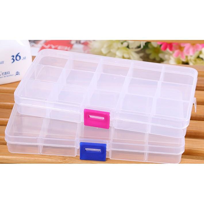 Hộp nhựa 15 ngăn (17.3 *9.8 *2.3 CM)