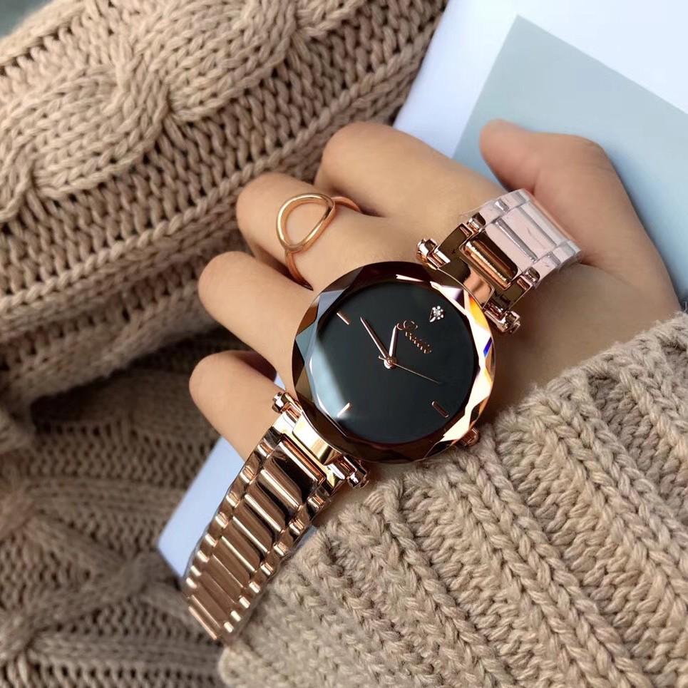 Đồng hồ Nữ SCOTTIE 8053 Sơn tĩnh điện - Mặt Kim Cương + Tặng Hộp & Pin