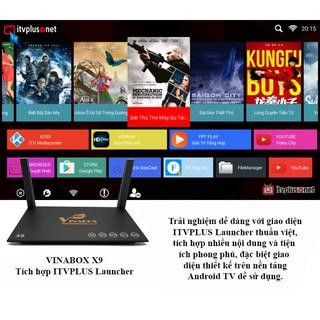 Androi TV box Vinabox X9- RAM 2G, ANDROID 7.1 kèm quà tặng