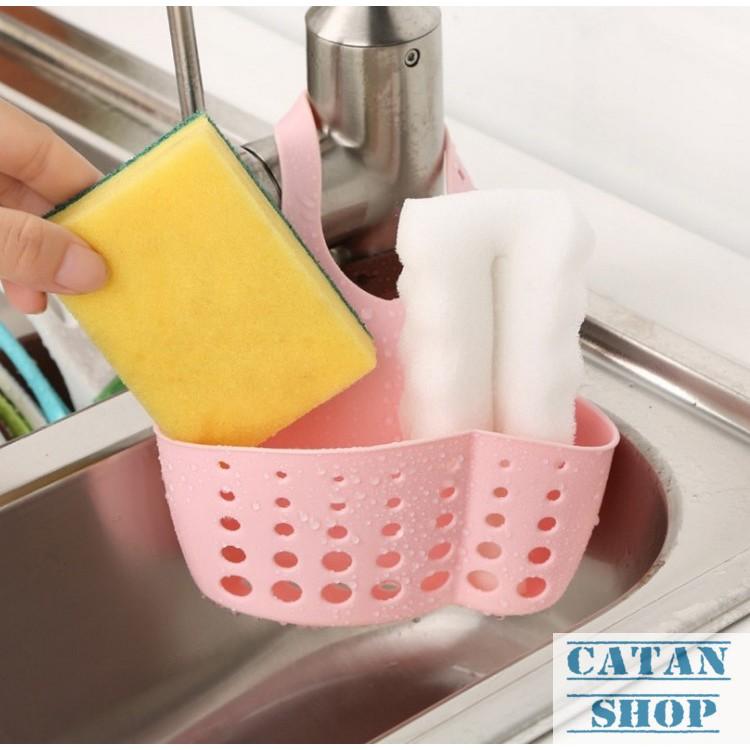 Giỏ treo, rổ treo bọt biển, bồn rửa chén, lavabo có nút điều chỉnh siêu tiện lợi GD04-RTBRC (giao mà