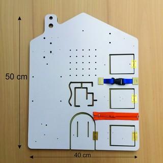 Bảng gỗ hình ngôi nhà – Phụ kiện tự làm Busy board