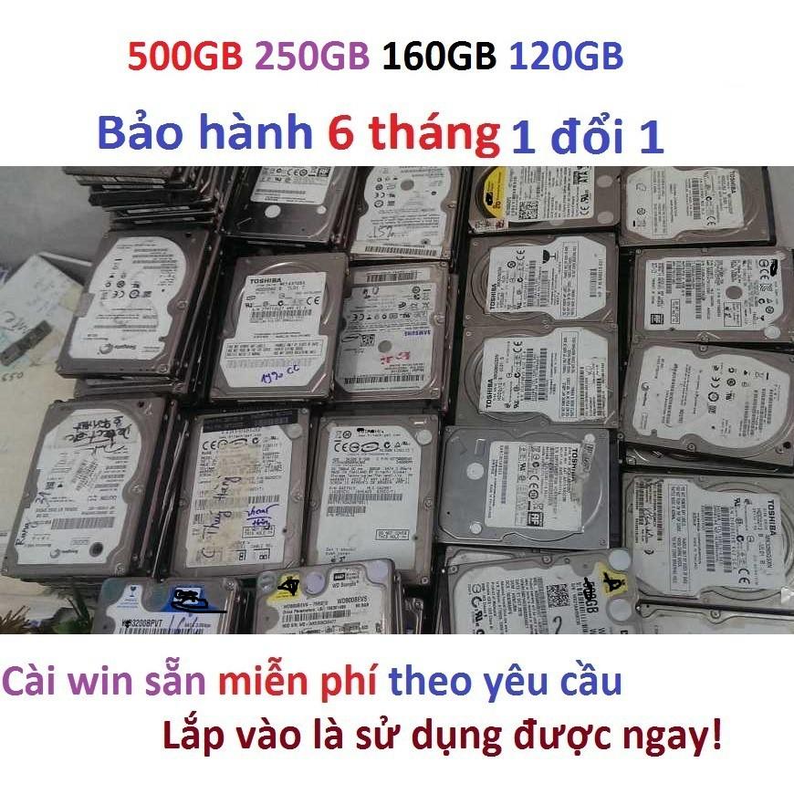 Ổ cứng laptop 500GB 250GB 160Gb 120GB HDD 160gb HDD 120GB HDD 250GB HDD 500GB hàng kho rã máy bảo hành 6 tháng