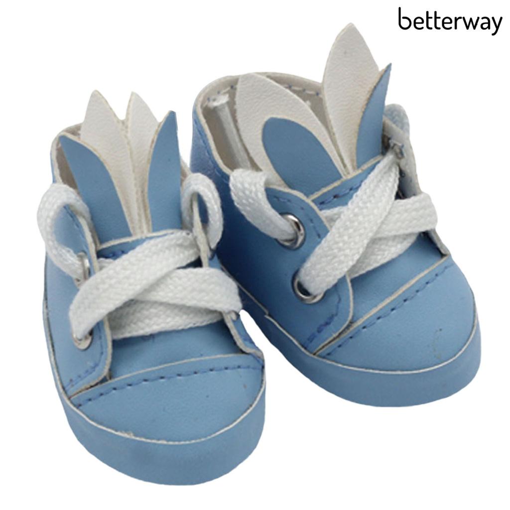 1 Đôi Giày Thể Thao Mini Bằng Cao Su Linh Hoạt Cho Búp Bê