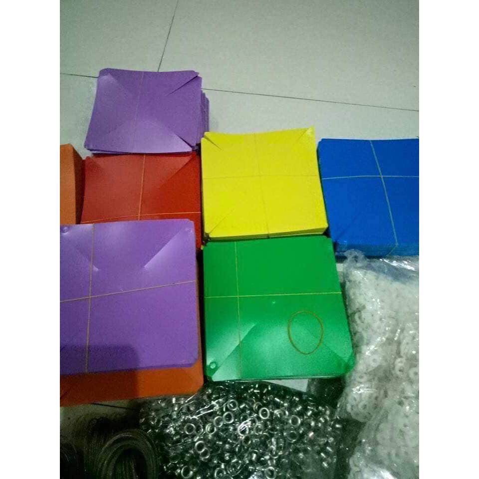 100 Chong Chóng Nhựa ĐK 20 Cm Kèm 30 Mét Dây Treo
