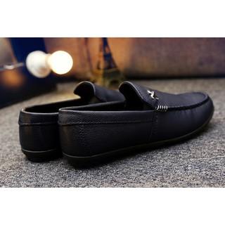 Giày da nam Hàn Quốc HQ001xanh đen