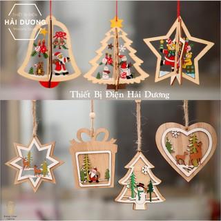 [Giá Tại Xưởng] Dây Treo Trang Trí Giáng Sinh Cao Cấp Bằng Gỗ – 9 Mẫu trang trí noel cây thông decor trang trí