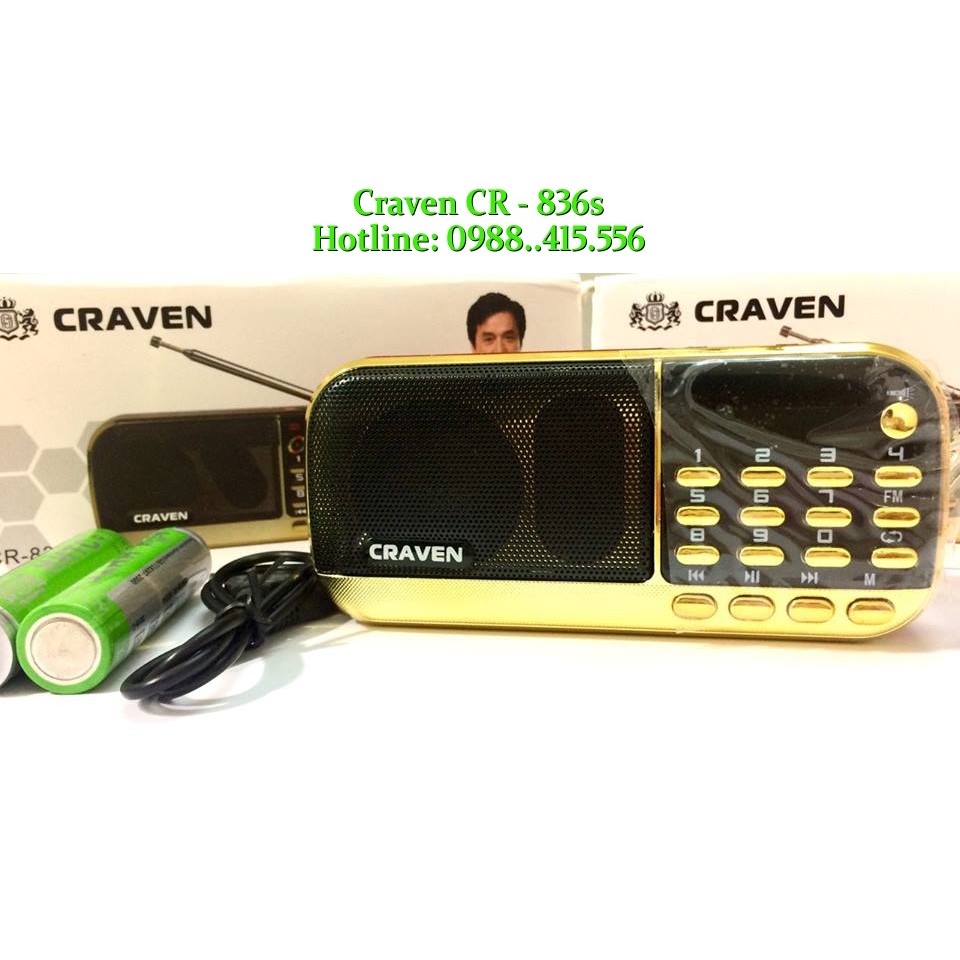 Loa Nghe Nhạc Usb Thẻ Nhớ FM Craven CR-836s