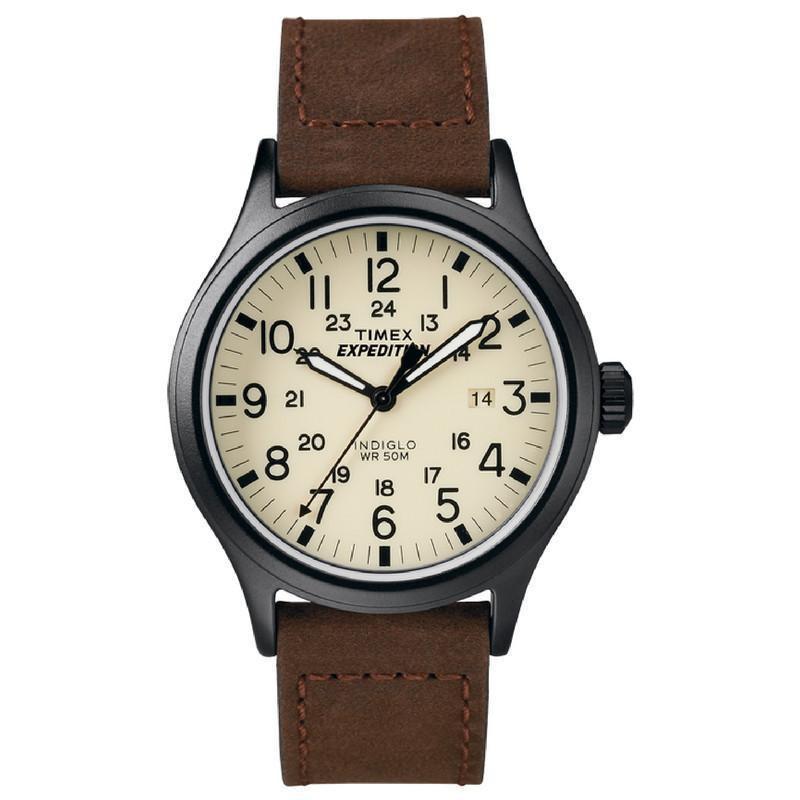 Đồng hồ nam Timex Expedition Scout T49963 dây da nâu