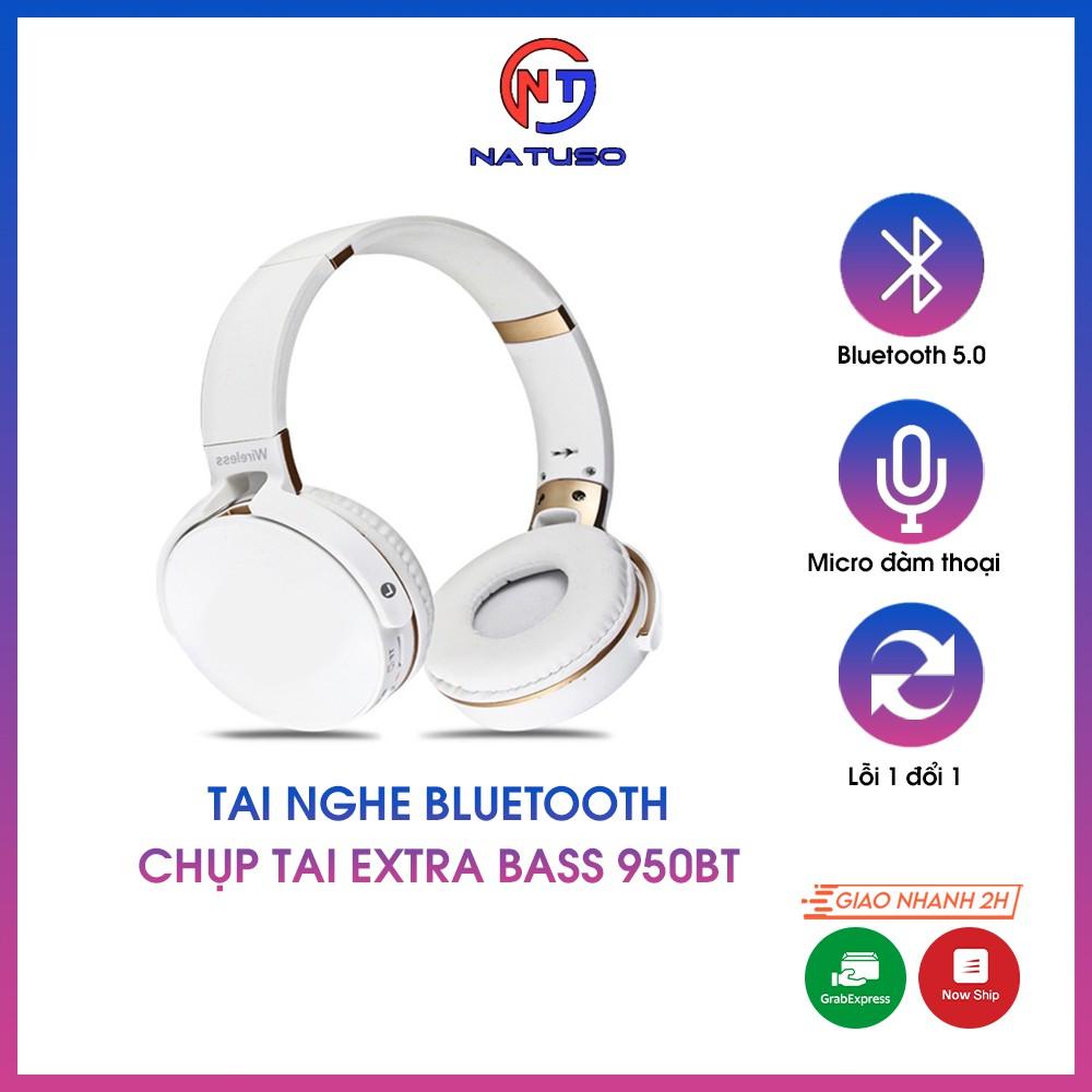 Tai nghe bluetooth chụp tai extra bass 950BT có mic đàm thoại, âm thanh chất, bass sống động, hỗ trợ thẻ nhớ và cổng 3.5
