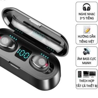 Tai nghe blutooth, tai nghe AMOI F9 phiên bản cảm ứng Cao Cấp, âm Bass trầm và ấm, đèn led hiển thị mức pin - Kochio thumbnail