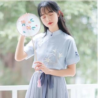 Đầm Hán Phục Cách Tân Thêu Họa Tiết Phong Cách Trung Hoa Cho Nữ